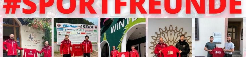 Sportfreunde danken treuen Sponsoren für neue Trainingsanzüge